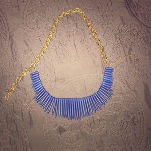 24 inch long blue shell necklace